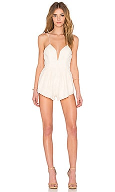 STYLESTALKER Empire Romper in Ivory