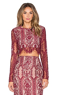 Style Stalker Vivid Crop Top in Rouge