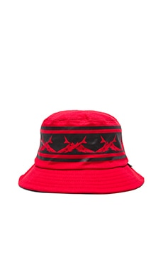 SSUR Caviar Cartel Sharks Crown Bucket Hat in Red