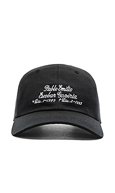SSUR Grave Unstructured 6 Panel Strapback in Black