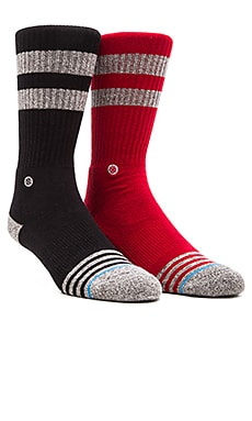 Stance 2-Pack in Solid State Red & Solid State Black