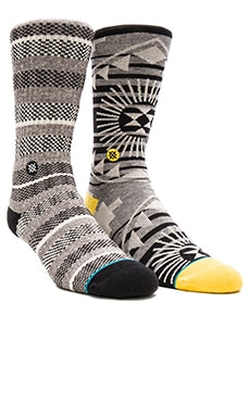 Stance 2-Pack in Black & Grey