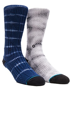 Stance 2-Pack Socks in Navy & Natural