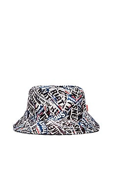 Staple Riot Bucket Hat in Grey