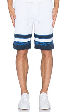 Staple Indigo Stripe Short in White