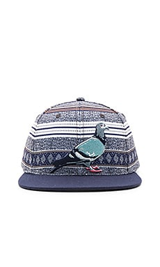Staple Breakneck Snapback in Indigo