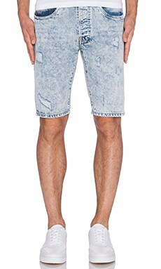 Staple Broken Short in Medium Stone Wash