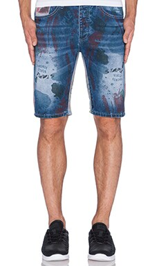 Staple Acrylic Denim Short in Indigo