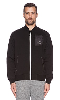 Staple Stealth Bomber Jacket in Black