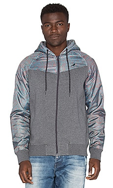 Staple Pathfinder Zip Hood in Charcoal