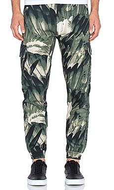 Staple Feather Camo Cargo Pants in Olive