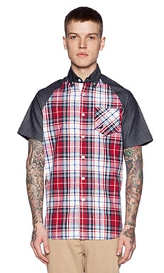 Staple Cardinal Short Sleeve Woven in Indigo