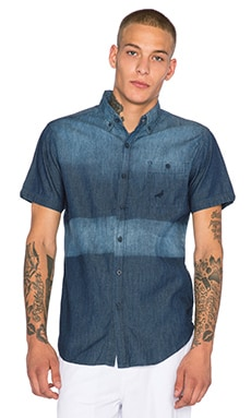 Staple Indigo Block Button Up in Navy