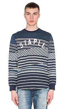 Staple Breakneck L/S Tee in Navy