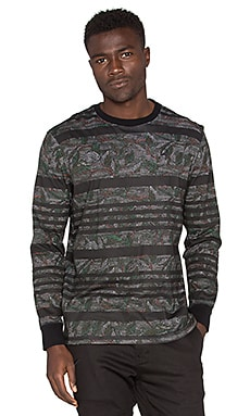Staple Mosaic L/S Tee in Olive