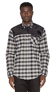 Staple Complex Flannel Button Down in Black