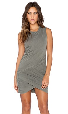 Stateside Draped Mini Dress in Fern