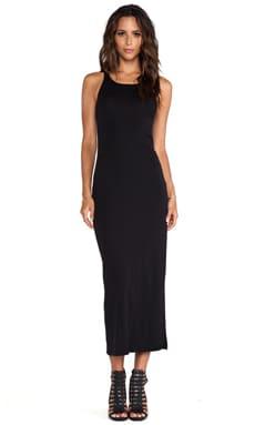 Stateside Rib Maxi Dress in Black