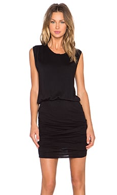 Stateside Ruched Mini Dress in Black