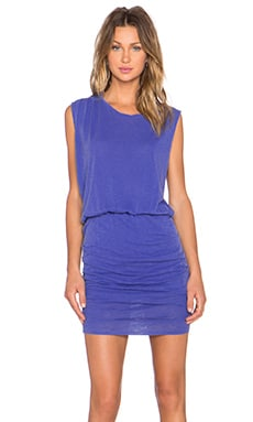 Stateside Ruched Mini Dress in Periwinkle
