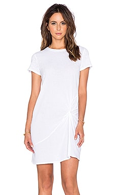 Stateside Gathered Mini Dress in White