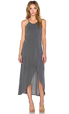 Stateside Bubble Gauze Layered Maxi Dress in Charcoal