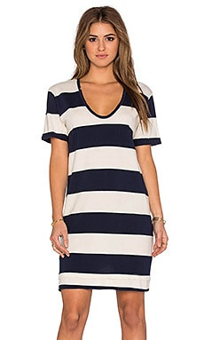 Large Rugby Stripe Short Sleeve Mini Dress