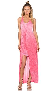 Stateside Oil Wash Supima Slub Jersey Scoop Neck Racerback Maxi Dress in Grapefruit