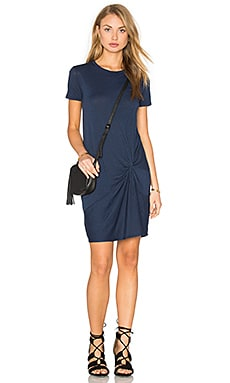 Knotted Mini Dress in Navy