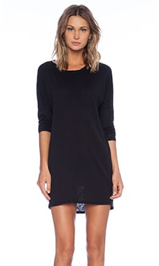 Stateside Gathered Back Dress in Black