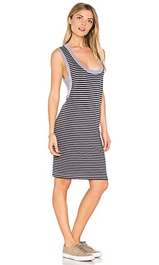 Navy Stripe Tank Dress