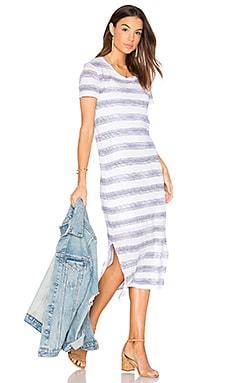 Linen Jersey T Shirt Midi Dress