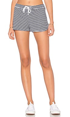 Navy Stripe Short