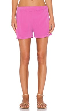 Stateside Crepe Jogger Short in Pink