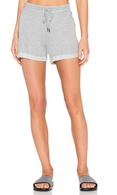 Lightweight French Terry Short in Heather Grey