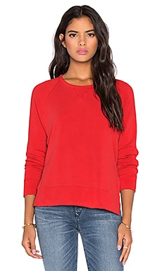 Stateside Split Side Sweatshirt in Red