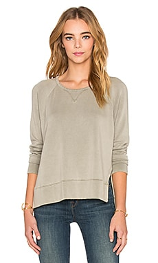 Split Side Sweatshirt in Fern