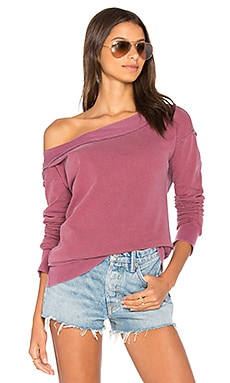 French Terry Off Shoulder Sweatshirt