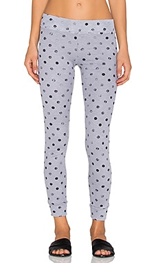Stateside Polka Dot Thermal Legging in Silver