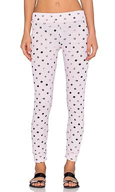 Stateside Polka Dot Thermal Legging in Blush