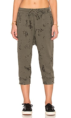 Stateside Burnout Sweatpant in fern
