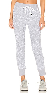French Terry Sweatpant in White