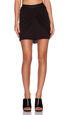 Stateside Draped Mini Skirt in Black