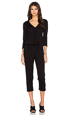 Stateside 3/4 Sleeve Jumpsuit in Black