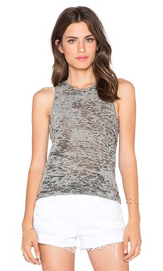 Stateside Burnout Knotted Racerback Tank in Heather Grey