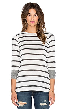 Stateside Stripe Long Sleeve Tee in White