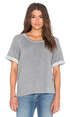 Stateside Viscose Fleece Short Sleeve Tee in Heather Grey