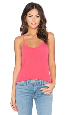 Royal Supima Jersey Light Scoop Neck Racerback Tank in Grapefruit