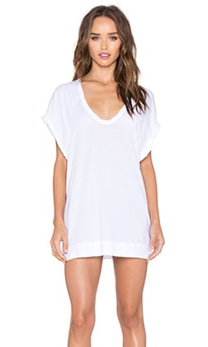 Royal Supima Jersey Light V Neck Tunic in White