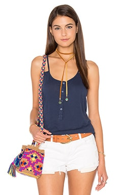 Royal Supima Jersey V Neck Tank en Marine